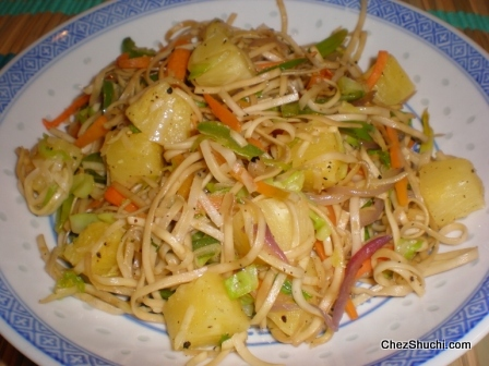pineapple chow mein